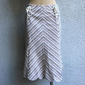 Antropologie Striped Skirt